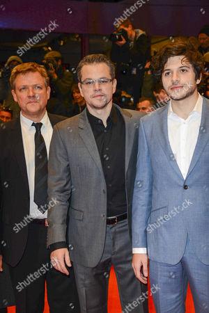 Justus von Dohnanyi, Matt Damon and Dimitri Leonidas
