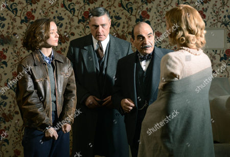 Alexandra Dowling as Marie, Vincent Regan as Chef Sup. Beale, David Suchet as Hercule Poirot and Vanessa Kirby as Celia.