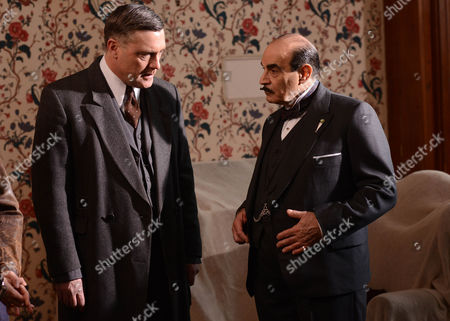 Vincent Regan as Chief Insp Beale and David Suchet as Hercules Poirot.
