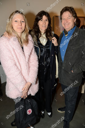 Stock Photo of Frances Costelloe, Bella Freud and Danny Moynihan