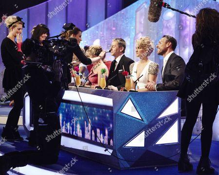 Stock Photo of Behind the scenes : Judges ; Karen Barber, Nicky Slater, Ashley Roberts and Jason Gardiner