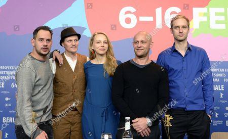 Moritz Bleibtreu, Georg Friedrich, Petra Schmidt-Schaller, Jurgen Vogel and Maximilian Erlenwein