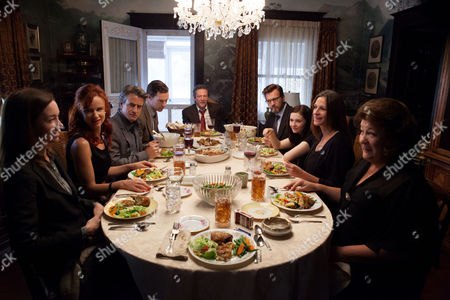 Stock Image of August: Osage County, Julianne Nicholson   Juliette Lewis, Dermot Mulroney, Benedict Cumberbatch, Chris Cooper, Ewan McGregor, Abigail Breslin, Julia Roberts, Margo Martindale