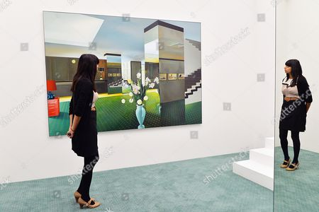 Installation titled Lobby by artist Richard Hamilton