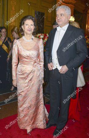 Queen Silvia of Sweden and Hans-Joachim Frey