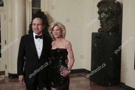 Philippe Dauman, chief executive officer of Viacom Inc., left, and Deborah Dauman