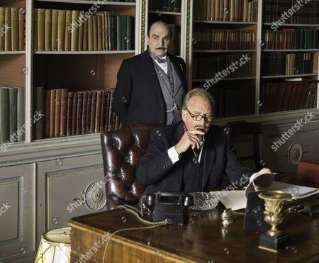 David Suchet as Hercule Poirot and Patrick Ryecart as Sir Anthony Morgan.