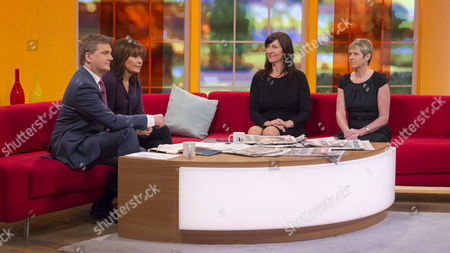Stock Picture of Aled Jones and Lorraine Kelly with Lucy Cavendish and Sharon Girling