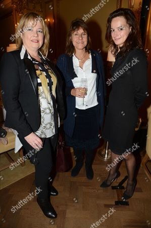Stock Picture of Rebecca Hawkes, guest and Angharad Wood