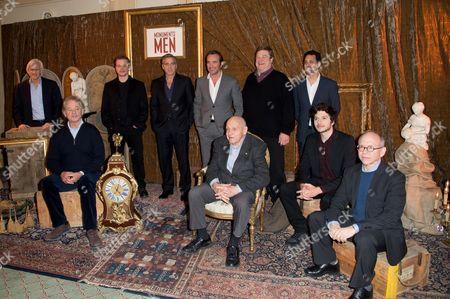 Grant Heslov, Matt Damon, Bill Murray, John Goodman, George Clooney, Surviving Monuments Man Harry Ettlinger, Jean Dujardin, Bob Balaban, Hugh Bonneville and Dimitri Leonidas