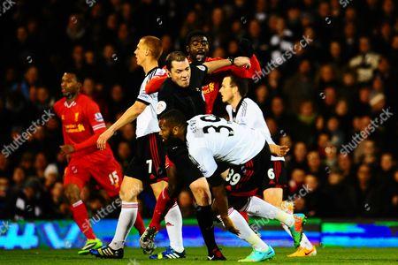 Editorial image of Barclays Premier League 2013/14, Fulham v Liverpool, Craven Cottage, London, Britain - 12 Feb 2014