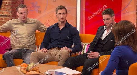 Richard Whitehead, Dan Osborne and Keith Duffy with Lorraine Kelly