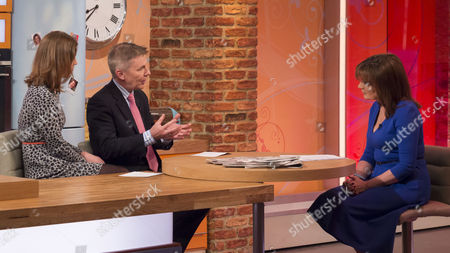 Stock Image of Carla Buzasi and Andrew Pierce with Lorraine Kelly