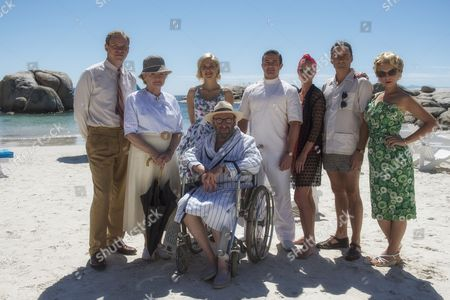 Stock Picture of Pictured L-R: Robert Webb as Tim Kendall, Julia McKenzie as Miss Marple, Charity Wakefield as Molly, Warren Brown as Jackson, Hermione Norris as Evelyn Hillingdon, Alastair MacKenzie as Colonel Hillingdon MyAnna Buring as Lucky Dyson and Sir Antony Sher as Rafiel.