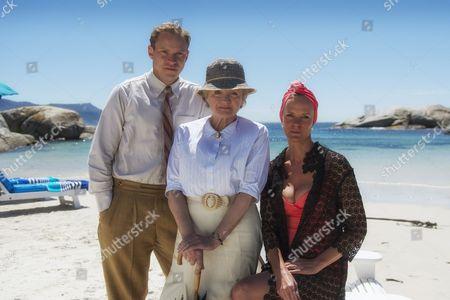 Robert Webb as Tim Kendall, Julia McKenzie as Miss Marple and Hermione Norris as Evelyn Hillingdon.