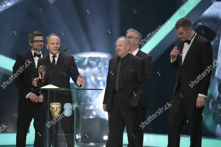 Winners of the Sound award for 'Gravity' Christopher Benstead, Skip Lievsay, Chris Munro, Glenn Freemantle and Niv Adiri