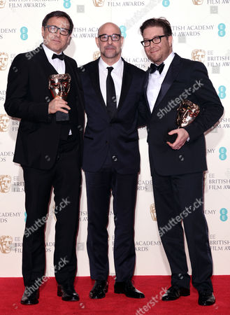 Stock Photo of David O Russell, Stanley Tucci and Eric Warren Singer