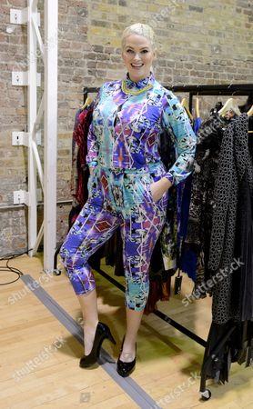Editorial picture of Plus Size Fashion show, Autumn Winter 2014, London Fashion Week, Britain - 14 Feb 2014