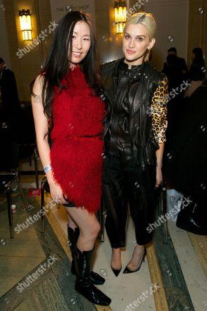 Editorial image of PINGHE show, Autumn Winter 2014, London Fashion Week, Britain - 14 Feb 2014