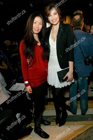Editorial photo of PINGHE show, Autumn Winter 2014, London Fashion Week, Britain - 14 Feb 2014