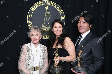 Tippi Hedren, Deborah Rutherford, and Hiroshi Yada