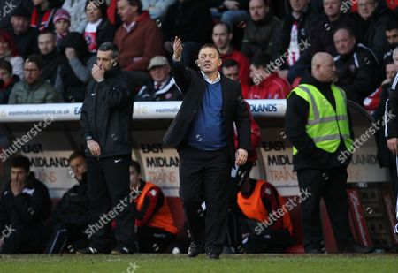 Nottingham Forest manager Billy Davies reacts