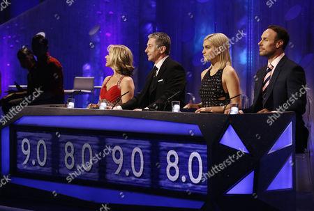 Judges Karen Barber, Nicky Slater, Ashley Roberts and Jason Gardiner