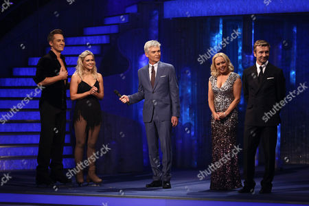 Suzanne Shaw and Matt Evers with Phillip Schofield, Jane Torvill and Christopher Dean