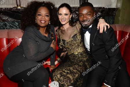 Oprah Winfrey, Georgina Chapman and Daniel Oyelowo