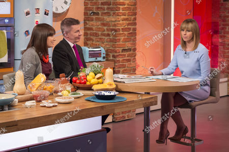 Esther Addley and Andrew Pierce with Kate Garraway