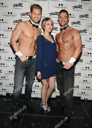 Editorial picture of Dev celebrity guest at Chippendales, Las Vegas, America - 14 Feb 2014
