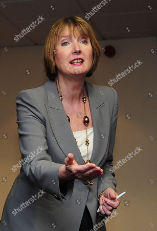 Editorial image of Harriet Harman Deputy Leader Of The Labour Party Takes Questions From Students At Barton Peberill Collage In Eastleigh Along Side The Labour Candidate John O'farrell The Labour Candidate For The Seat. Candidates From Each Of The Different Parties Ar