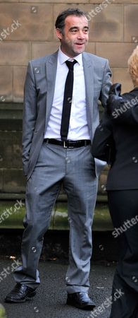 Editorial photo of Actor Michael Le Vell (turner) At Fellow Coronation Street Actor Bill Tarmey (jack Duckworth) Funeral At Albion United Reform Church Ashton Under Lyne Manchester.