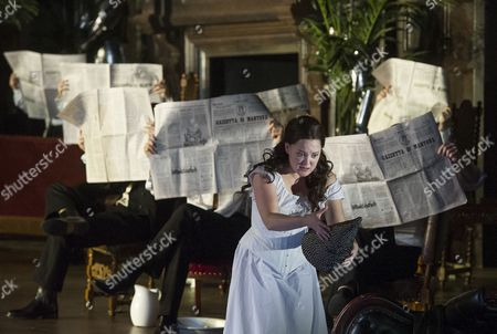 Editorial photo of 'Rigoletto' performed by The English National Opera at the London Coliseum, London, Britain - 11 Feb 2014