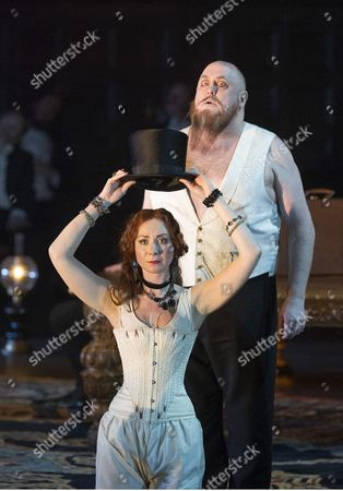 Stock Picture of 'Rigoletto' - Peter Rose as Sparafucile and Justina Gringyte as Maddalena