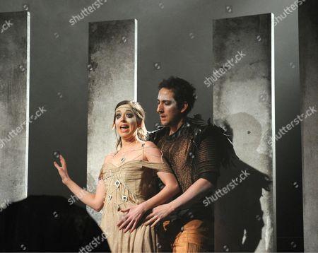 'King Priam' - Niamh Kelly as Helen and Nicholas Sharratt as Paris