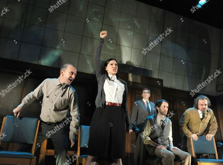 '1984' performed by Headlong - Christopher Patrick Nolan as Martin, Hara Yannas as Julia, Mark Arends as Winston and Stephen Fewell as Charrington