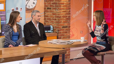 Stock Picture of Isabel Hardman and Kevin Maguire with Kate Garraway