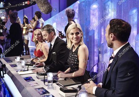 Stock Picture of Behind the scenes - Judges : Karen Barber, Nicky Slater, Ashley Roberts and Jason Gardiner