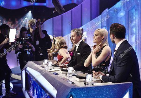 Behind the scenes - Judges : Karen Barber, Nicky Slater, Ashley Roberts and Jason Gardiner