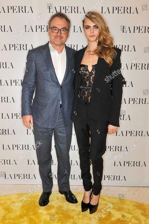 Silvio Scaglia and Cara Delevingne