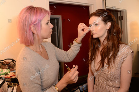 Editorial photo of Lydia Hearst behind the scenes at a fashion shoot for Genlux Magazine, Los Angeles, America - 18 Feb 2014