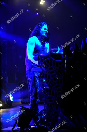 Keyboardist Tuomas Holopainen Of Finnish Symphonic Metal Group Nightwish Performing Live On Stage At Shepherd's Bush Empire In London