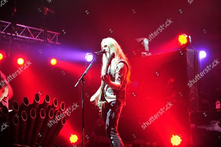 Bassist Marco Hietala Of Finnish Symphonic Metal Group Nightwish Performing Live On Stage At Shepherd's Bush Empire In London