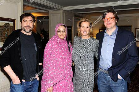 Javier Bardem, Aminatou Haidar, Kerry Kennedy and Alvaro Longoria