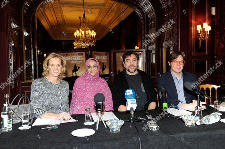 Kerry Kennedy, Aminatou Haidar, Javier Bardem and Alvaro Longoria