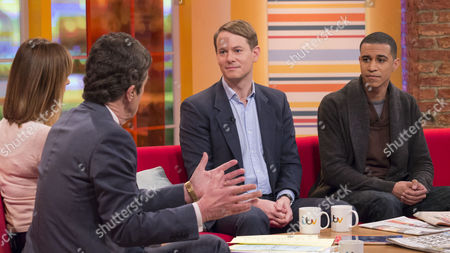 Stock Image of John Stapleton and Kate Garraway with Jonathan Birdwell and Femi Santiago