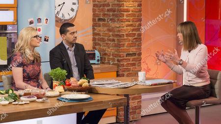 Katie Nicholl and Mehdi Hasan with Kate Garraway
