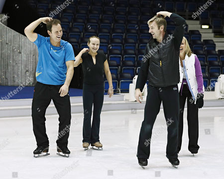 Kyran Bracken and Nina Ulanova with Christopher Dean and Karen Barber