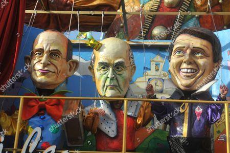 Float of Matteo Renzi , Gianni Letta, Giorgio Napolitano